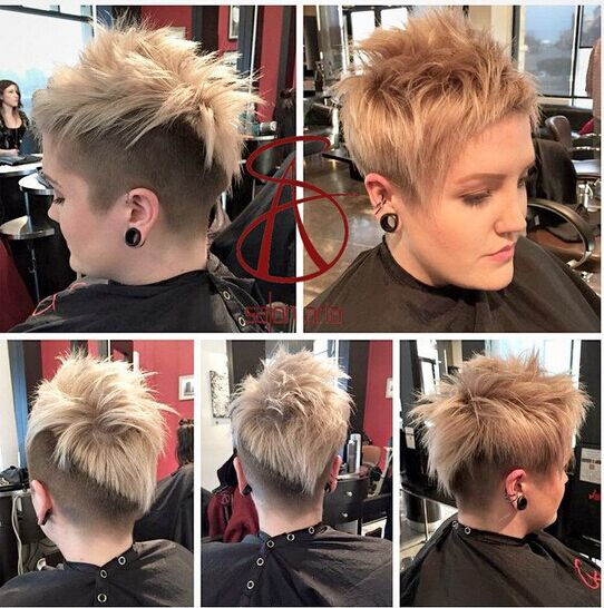 Spiked Hairstyles for Short Hair: Side, Back View