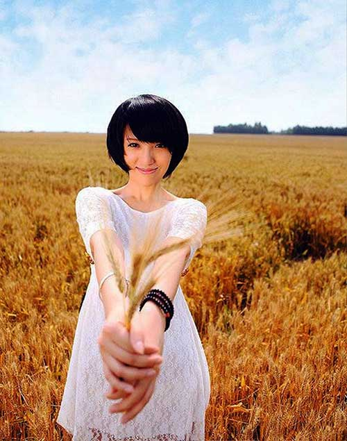 Good Asian Inverted Short Hair with Bangs