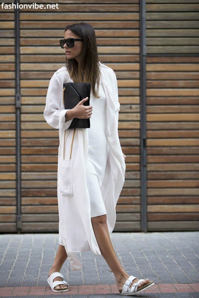 birkenstock white dress