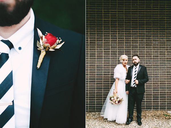 groom boutonniere - photo by Emily Chidester http://ruffledblog.com/southern-wedding-with-a-gold-sequin-gown