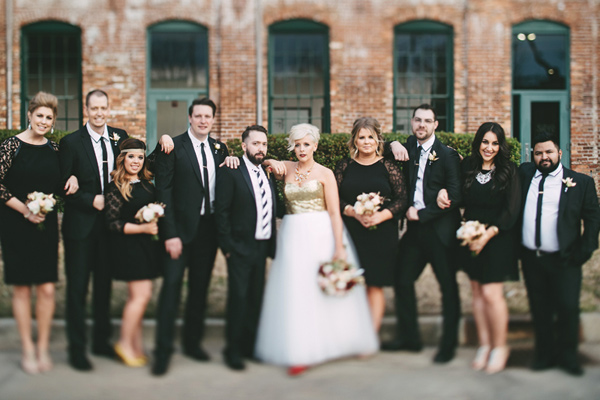 southern wedding with a gold sequin gown - photo by Emily Chidester http://ruffledblog.com/southern-wedding-with-a-gold-sequin-gown