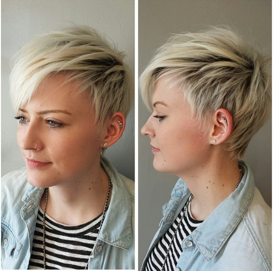Short Shaggy Haircut for Blonde Hair