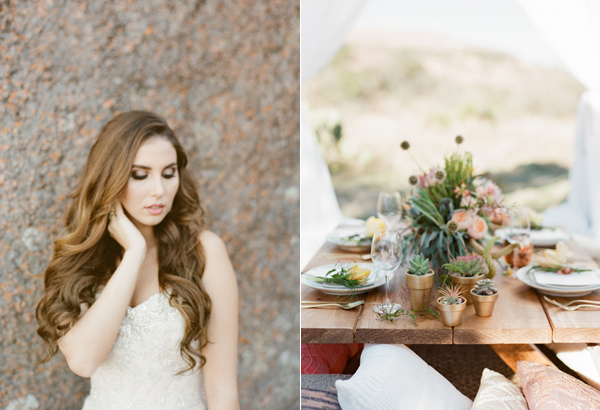 graceful desert wedding at Enchanted Rock - photo by Bella Reese Photography http://ruffledblog.com/graceful-desert-wedding-at-enchanted-rock