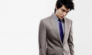 Lee Min Hoo Hairstyles 2015 Black Hair Color with Up Bangs for Prom and Party