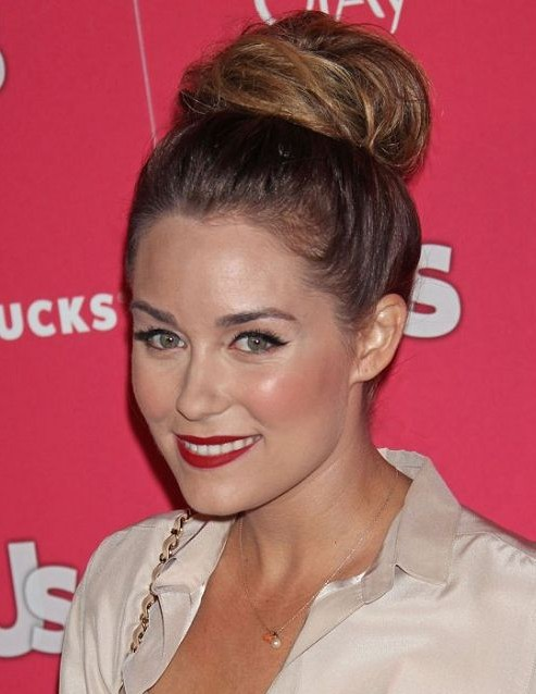 Messy Top Knot Hairstyle