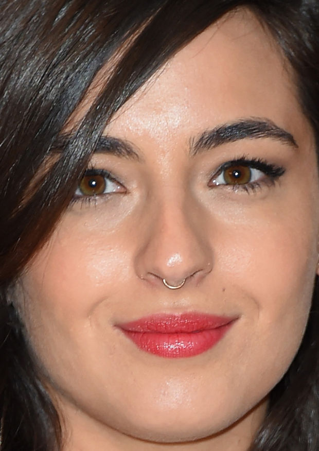 Close-up of Alanna Masterson at the 2015 White House Correspondents' Dinner.