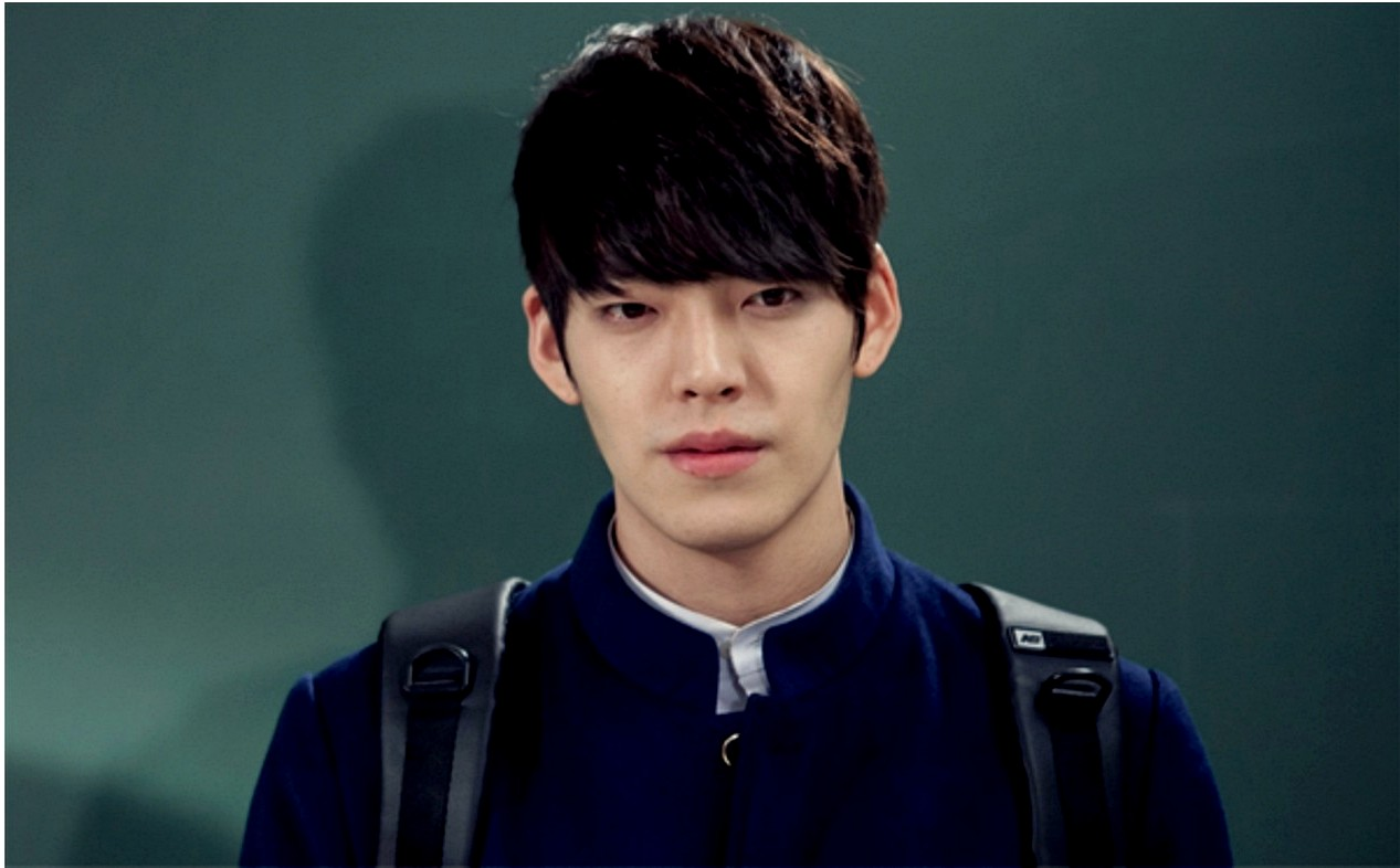 Kim Woo bin Hairstyles 2015 Brown Hair Color with Bangs in Movie The Hairs