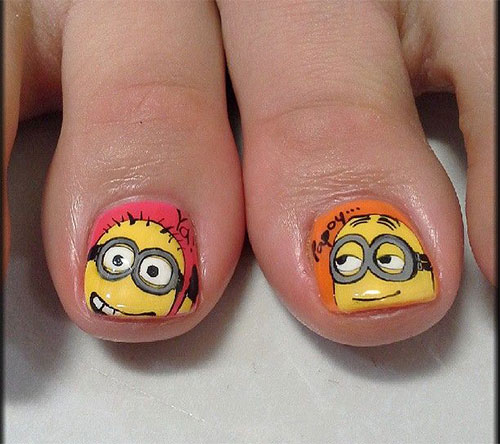 Minion Toe Nail Art Designs Ideas Trends Stickers 2015 5 Minion Toe Nail Art Designs, Ideas, Trends & Stickers 2015