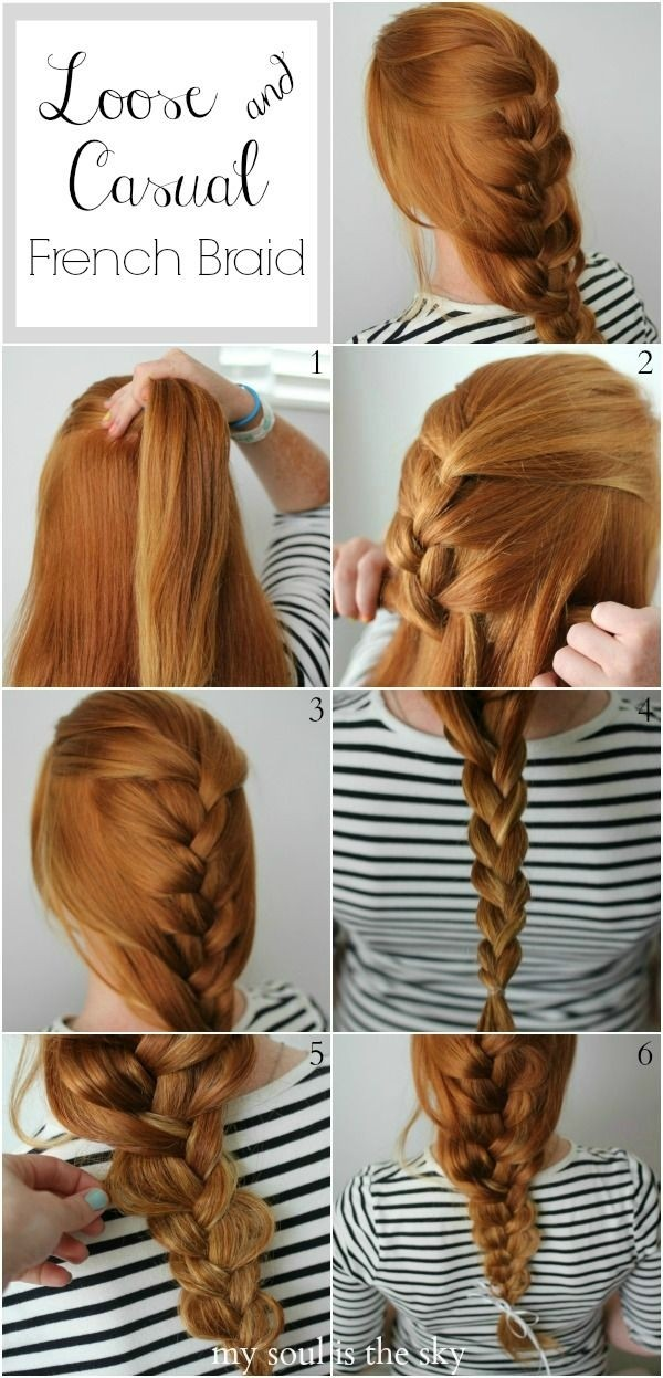 Loose French Braid Hairstyle Tutorial