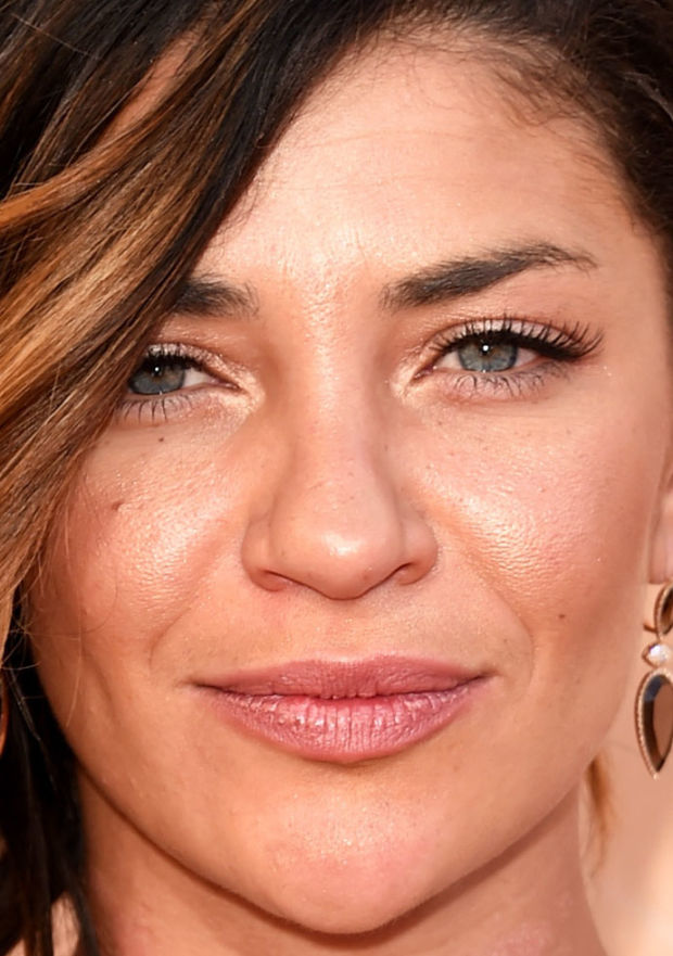 Close-up of Jessica Szohr at the 2015 iHeartRadio Music Awards.