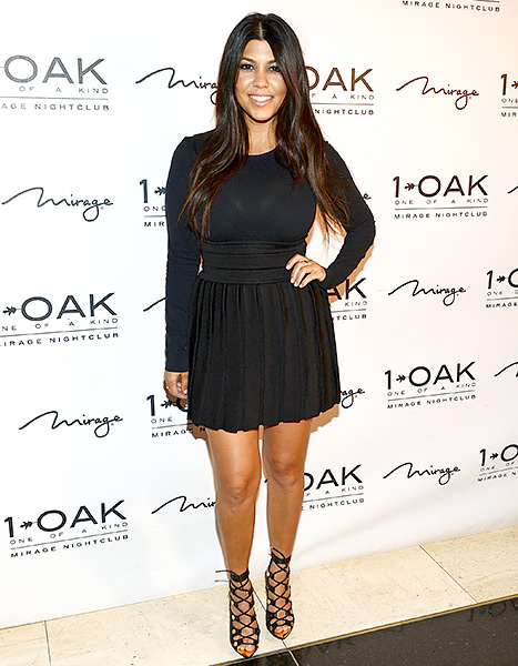 Kourtney Kardashian arrives at her birthday celebration at 1 OAK Nightclub at The Mirage Hotel & Casino on April 18, 2015 in Las Vegas, Nevada.