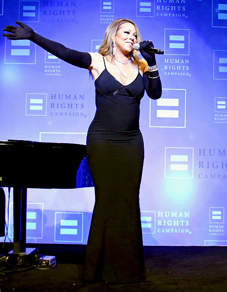 Mariah Carey preformed Human Rights Campaign Los Angeles Gala 2015 on March 14, in Los Angeles.
