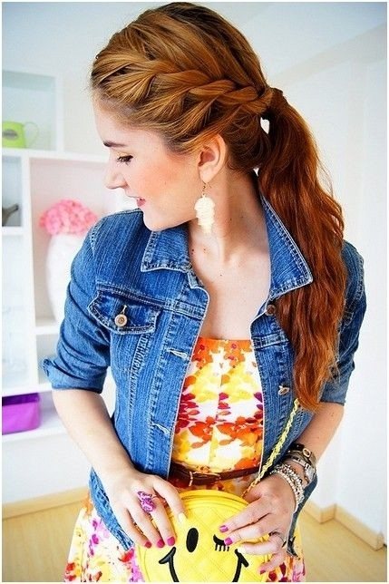 Pretty Braided Ponytail Hairstyle