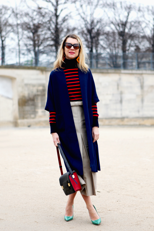 color block with stripes