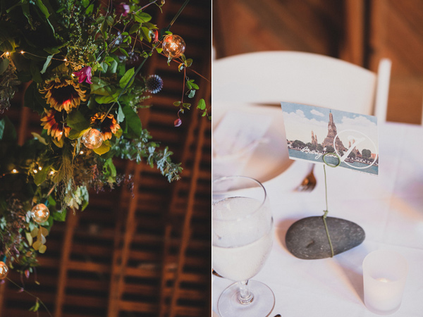 wedding centerpieces - photo by Jaquilyn Shumate http://ruffledblog.com/orcas-island-wedding-at-a-sawmill