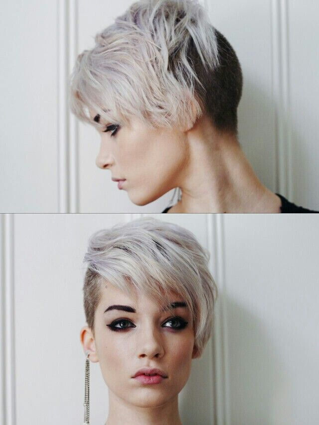 Shaggy Asymmetric Pixie: Undercut Short Hairstyle