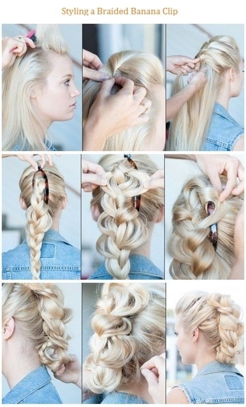 Styling a Braided Banana Clip Hairstyle