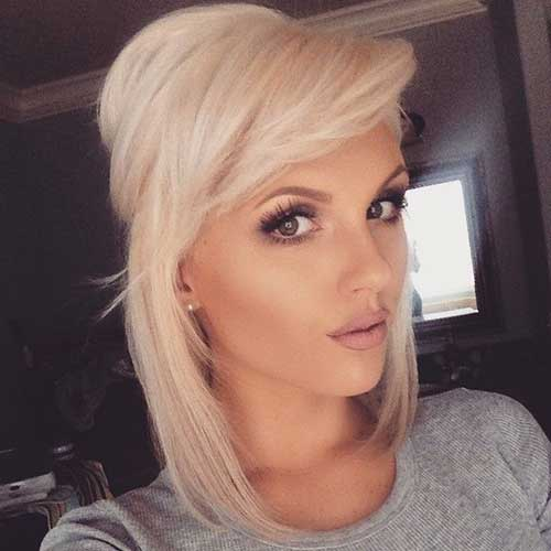 Cute Blonde Colored Layered Short Hair