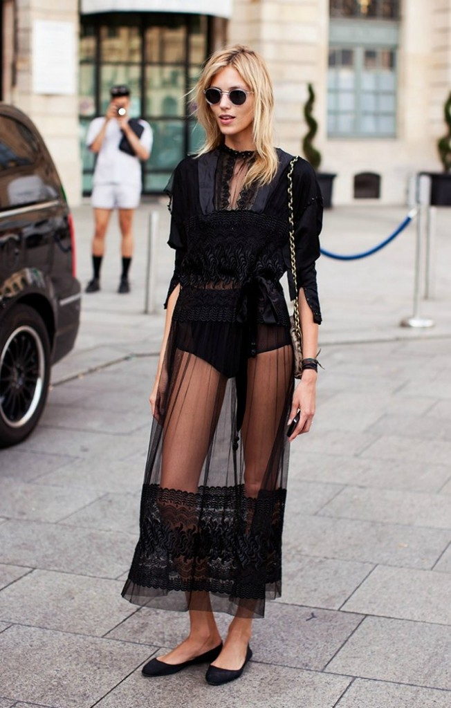 sheer and lacy dress