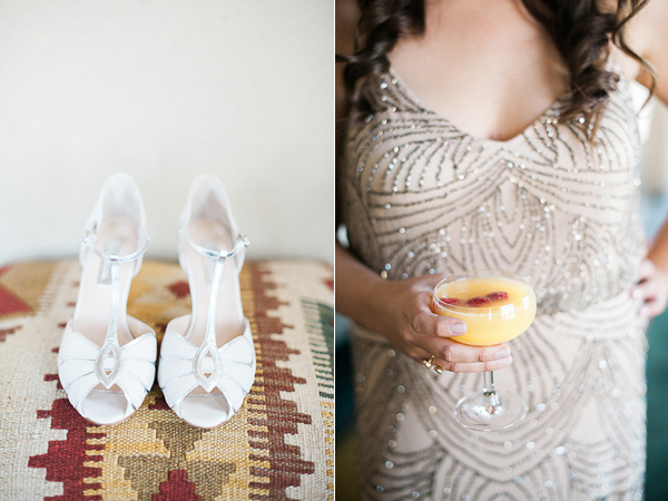 beaded bridesmaid dress - photo by Brandi Welles Photographer http://ruffledblog.com/sheer-romance-wedding-at-carondelet-house