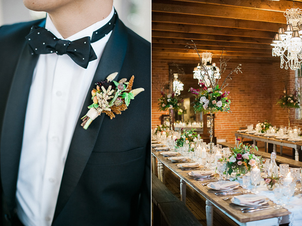 reception tables - photo by Brandi Welles Photographer http://ruffledblog.com/sheer-romance-wedding-at-carondelet-house