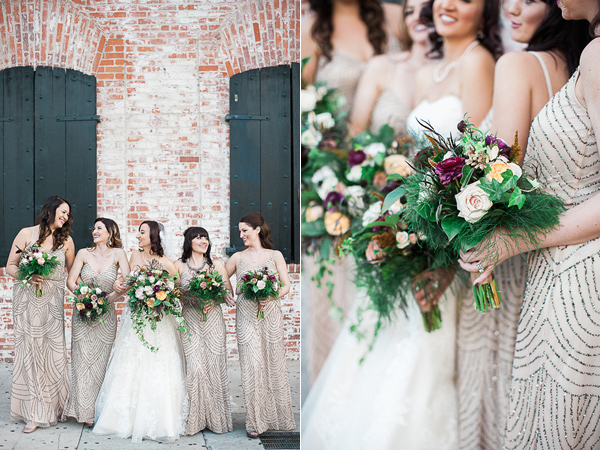 bridesmaid bouquets - photo by Brandi Welles Photographer http://ruffledblog.com/sheer-romance-wedding-at-carondelet-house