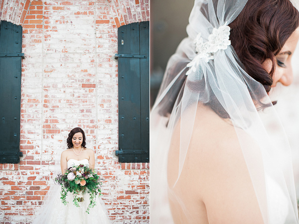 wedding veils - photo by Brandi Welles Photographer http://ruffledblog.com/sheer-romance-wedding-at-carondelet-house