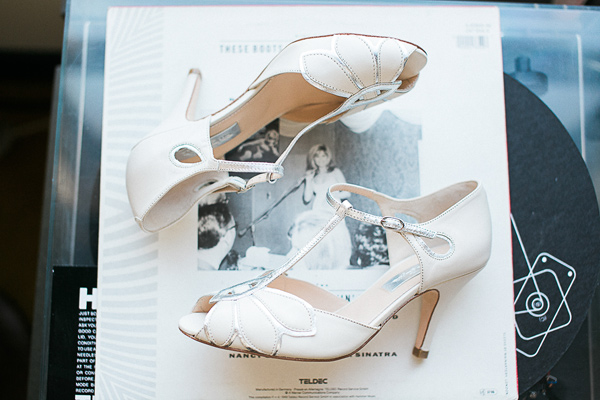 vintage inspired wedding shoes - photo by Brandi Welles Photographer http://ruffledblog.com/sheer-romance-wedding-at-carondelet-house