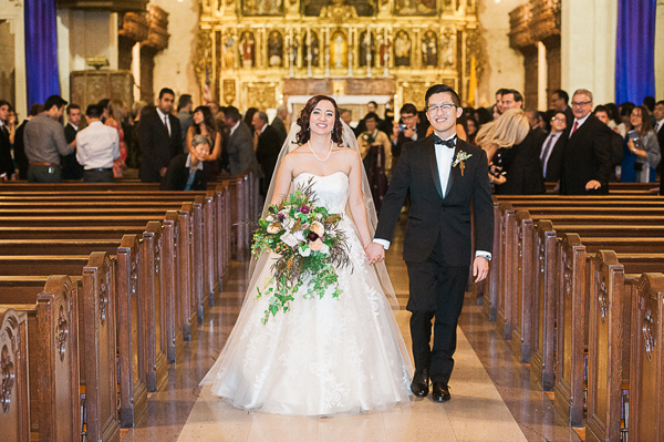 ceremony recessional - photo by Brandi Welles Photographer http://ruffledblog.com/sheer-romance-wedding-at-carondelet-house