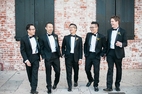 groom and groomsmen - photo by Brandi Welles Photographer http://ruffledblog.com/sheer-romance-wedding-at-carondelet-house