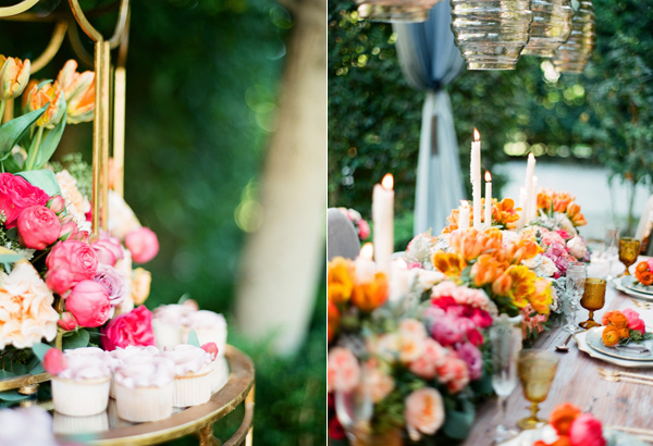 dessert tables - photo by Shannon Duggan Photography http://ruffledblog.com/propel-workshop-shoot-with-a-handpainted-gown