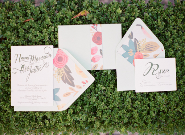 garden wedding invitations - photo by Shannon Duggan Photography http://ruffledblog.com/propel-workshop-shoot-with-a-handpainted-gown