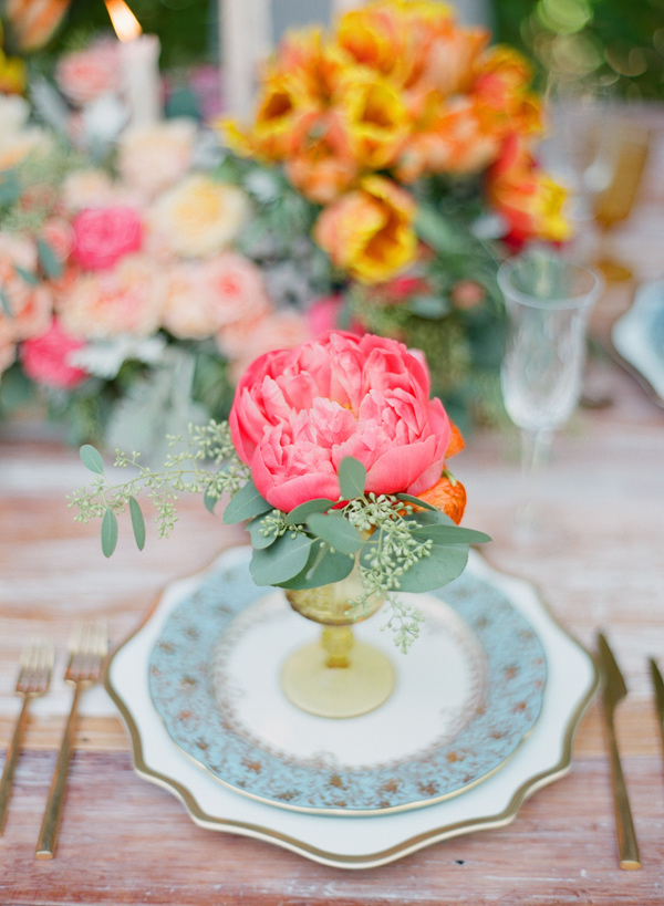 coral charm peony - photo by Shannon Duggan Photography http://ruffledblog.com/propel-workshop-shoot-with-a-handpainted-gown