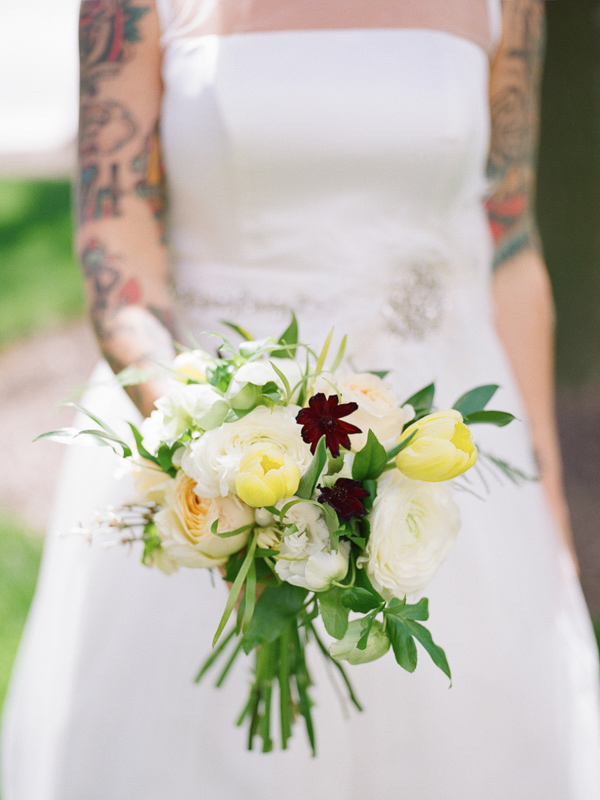 simple bouquet with tulips - photo by JD3 Photography http://ruffledblog.com/party-city-wedding-in-atlanta