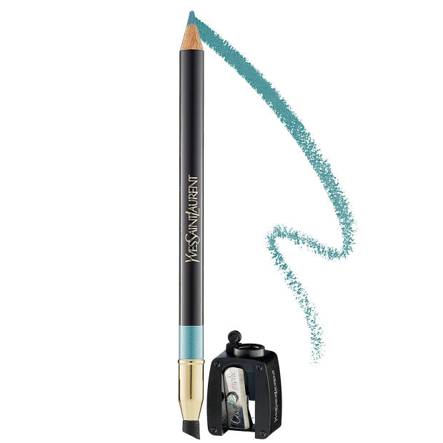 Yves Saint Laurent Crayon Yeux Haute Tenue Long-Lasting Eye Pencil in 9 Turquoise.