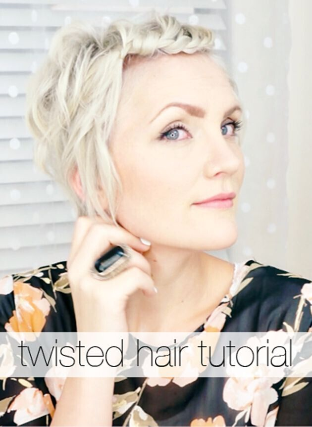 Twisted Short Hair Tutorial