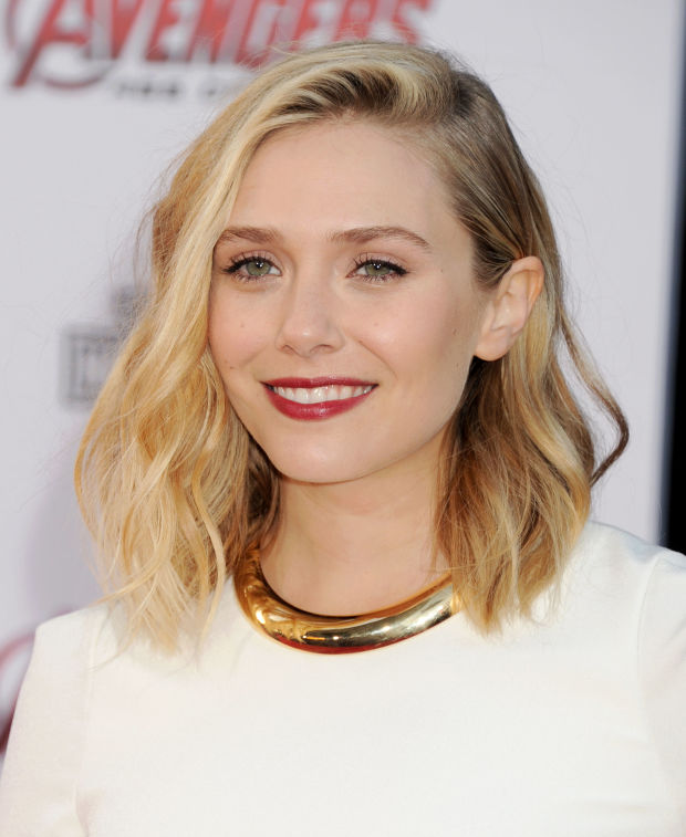 Elizabeth Olsen at the 2015 premiere of 'Avengers: Age of Ultron'.