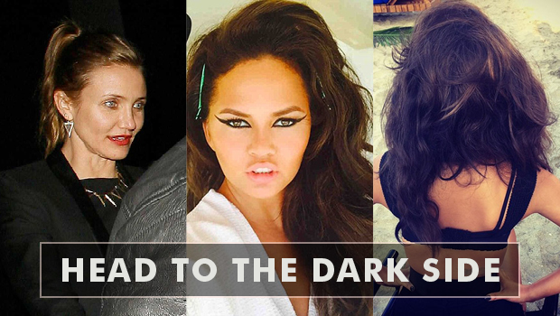 Blonde celebrities who have head to the dark side
