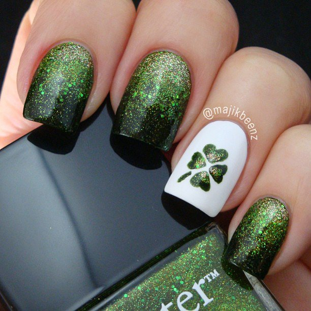 st-patricks-day-ombre-nails