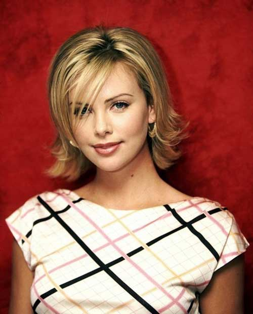 Charlize Theron Layered Bob Hairstyles