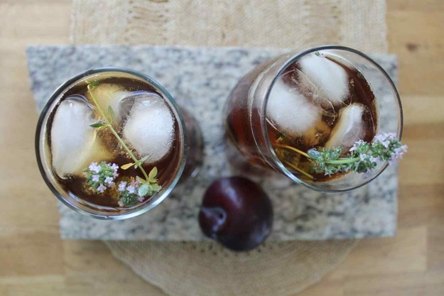 Plum and Thyme Iced Tea