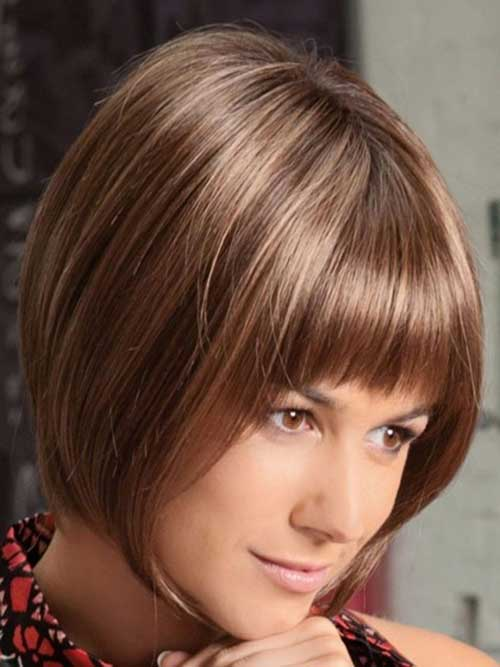 Best Fine Inverted Bob with Bangs