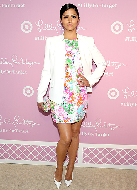 Camila Alves attends the Lilly Pulitzer For Target Launch Event at Bryant Park Grill on April 15 in NYC.
