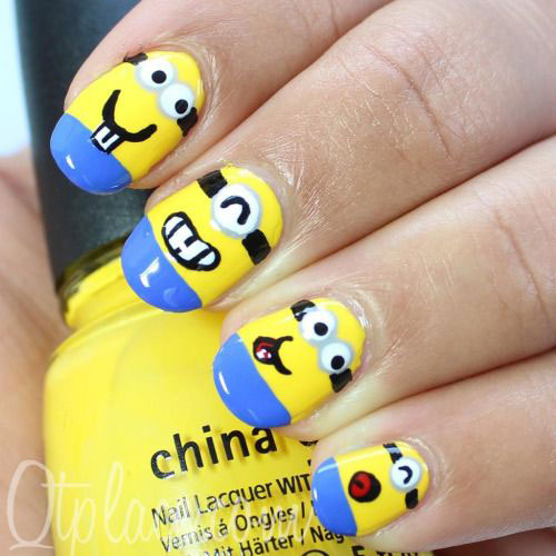 25 Awesome Minion Nail Art Designs Ideas Trends Stickers 2015 5 25+ Awesome Minion Nail Art Designs, Ideas, Trends & Stickers 2015