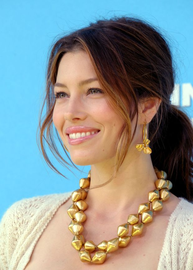 Jessica Biel at the 2009 premiere of 'Planet 51'.