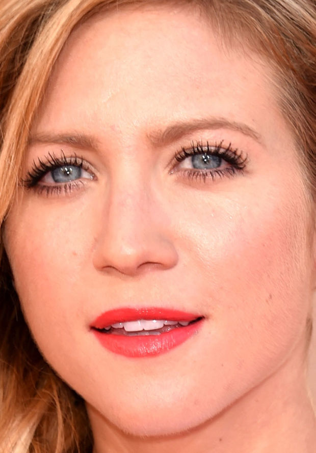 Close-up of Brittany Snow at the 2015 iHeartRadio Music Awards.