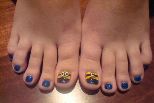 Minion Toe Nail Art Designs Ideas Trends Stickers 2015 2 Minion Toe Nail Art Designs, Ideas, Trends & Stickers 2015