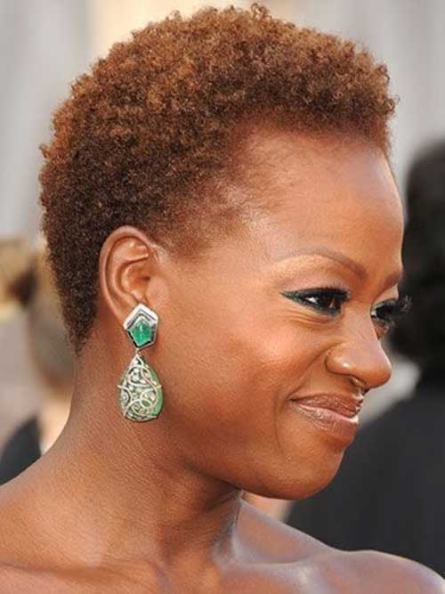 Viola Davis with Natural Curly Hair