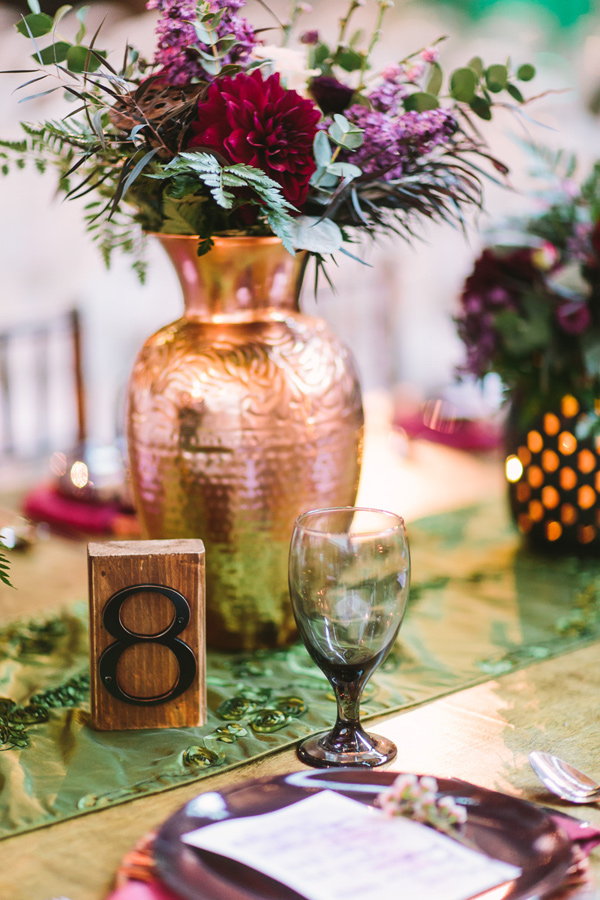 boho wedding table inspiration - Photo by Let's Frolic Together - http://ruffledblog.com/wanderlust-inspired-wedding-in-los-angeles