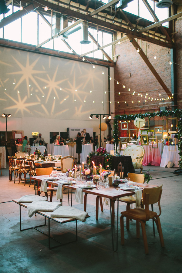 boho wedding decor idea - Photo by Let's Frolic Together - http://ruffledblog.com/wanderlust-inspired-wedding-in-los-angeles